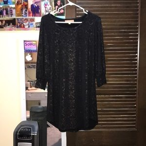 Ellen Tracy black snake print dress